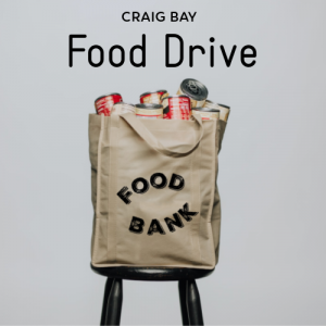 Fall Food Drive Collection @ Beach Club Upper Entrance Patio